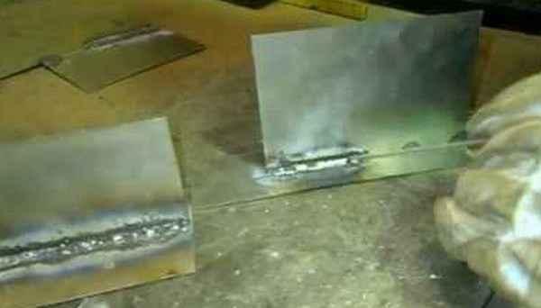 Как варить тонкий металл двумя электродами