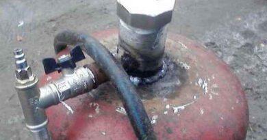 Пескоструй из газового баллона - как сделать своими руками
