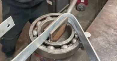 Самодельное приспособление для гибки металла