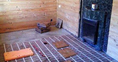 Нужен ли теплый пол в бане и какой - электрический или водяной?