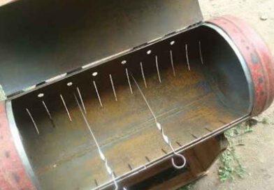 Как сварить мангал из газового баллона своими руками
