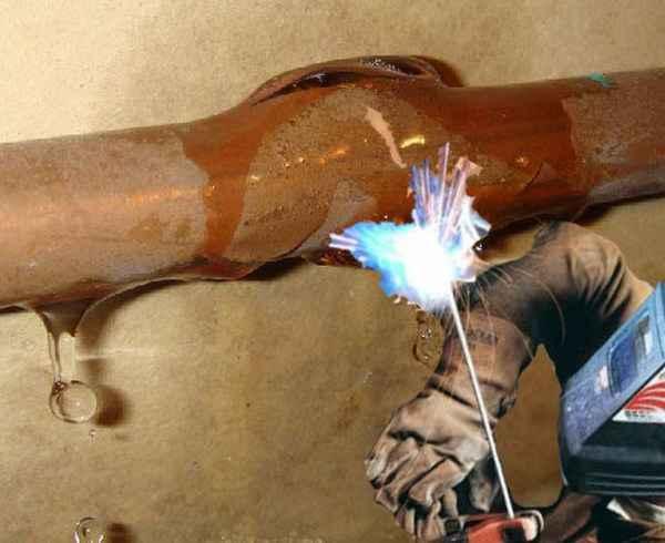 Как варить, если из трубы идёт вода