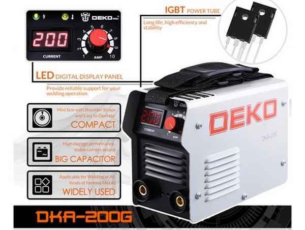 Портативный инвертор для сварки DEKO DKA 200Y